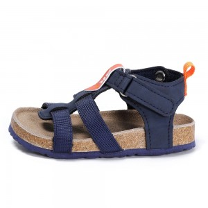 New Arrival Fashion Design High-class Nylon Straps Kids Toddler Boys Summer Cork Footbed Sandals