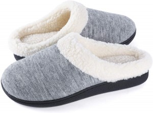 High definition China Custom Warm Fuzzy Feather Yarn Warp Knitted Winter Slipper Home