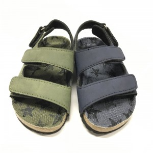 The Youth Version of Cork Foot Bed Comfort Ankle Strap Sandals
