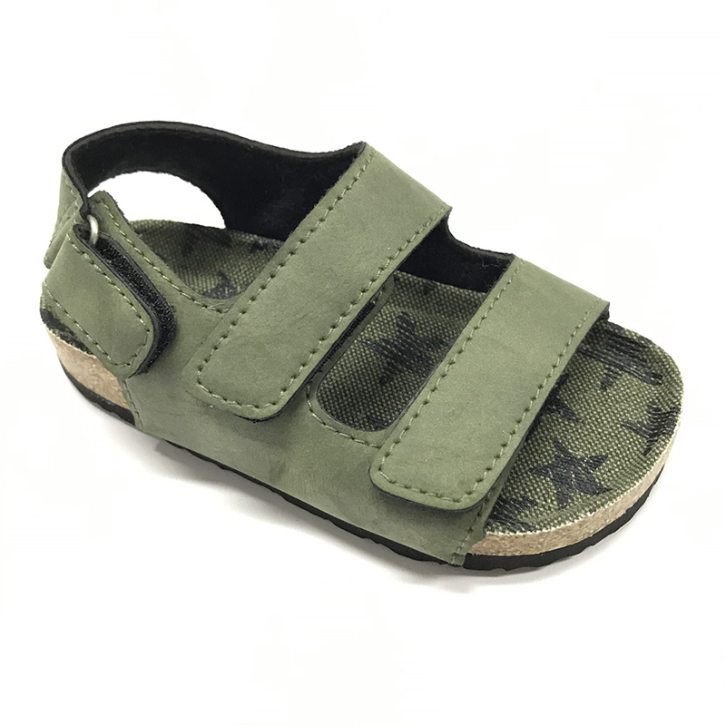 The Youth Version of Cork Foot Bed Comfort Ankle Strap Sandals Featured Image