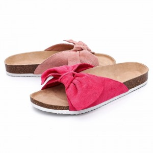 Factory wholesale Women Platform Sandals - Wholesale Camouflage PU Upper Footbed Cork Sole Flat Sandals Women Comfortable  – BYRING
