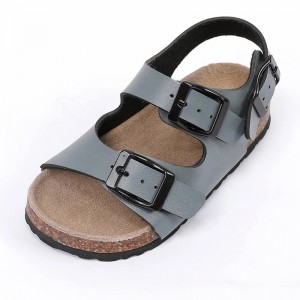New Arrival Best Selling Good Quality Buckle Strap Leather insole Children Kids Boys Sandals
