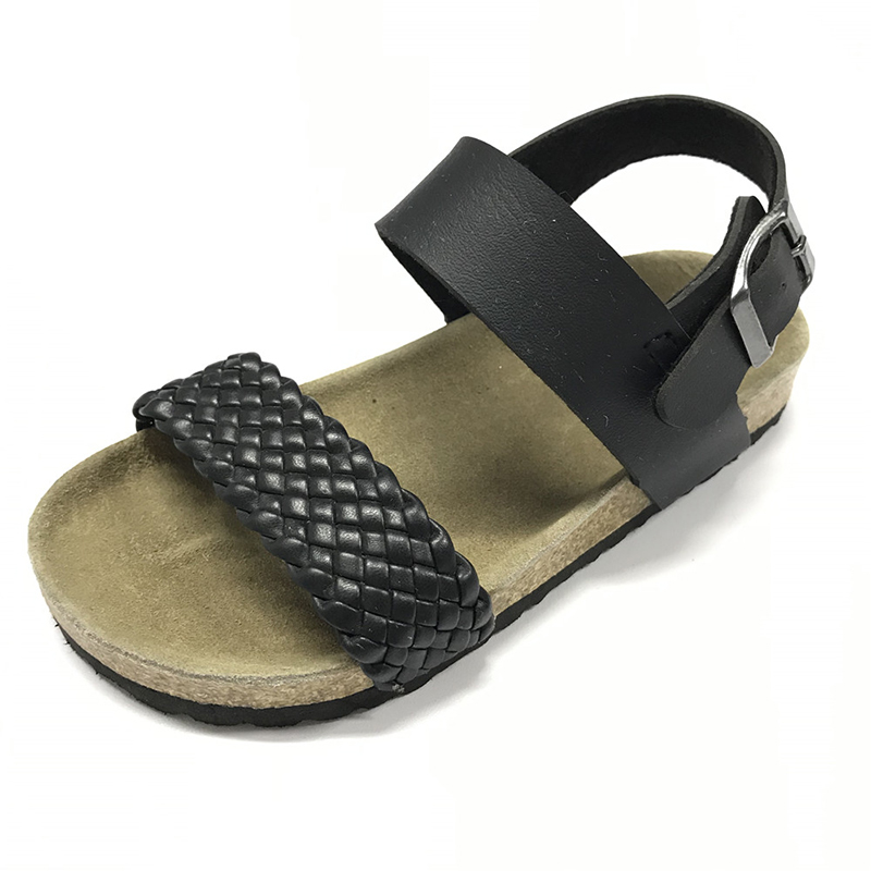Byring Shoes New Boys Sandals With Design Cork Foot Bed Sole and Woven Pu Upper Featured Image