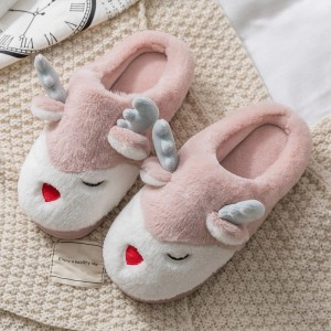 ew design women cozy plush open toe cross straps home indoor slippers