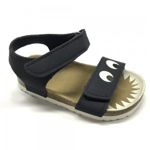 New Item Good Quality Velcro Strap Cork Footbed Cartoon Kids Boys Sandals