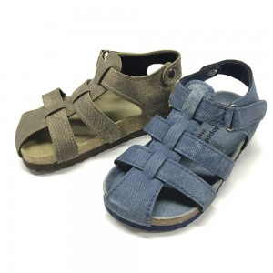 Byring Shoes New Arrival Good Quality Buckle Strap Matching Insole Children Kids Boys Sandals
