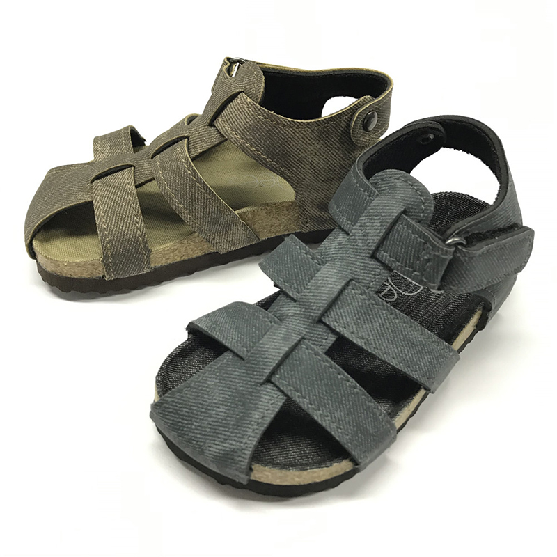 2020 High quality Model Sandals For Boys - Byring Shoes New Arrival Good Quality Buckle Strap Matching Insole Children Kids Boys Sandals – BYRING detail pictures