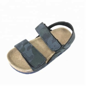 Boys sandals with comfortable design children cork sole sandals