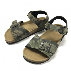 Byring Shoes Boys Sandals With Comfortable Design Cork Foot Bed Sole Comfort