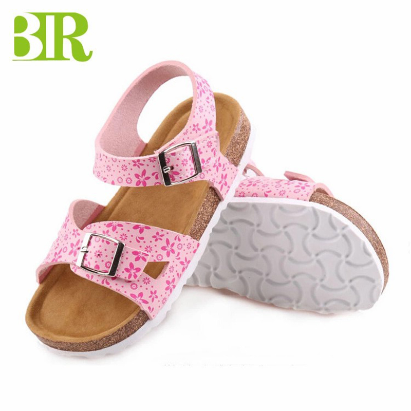 Hot New Products Kids Thong Slippers - Hot Sale Summer Open Toe buckle sandals cork sole kids sandals – BYRING