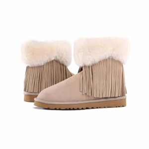 Classic design women ankle boots lady winter snow boots with buckles
