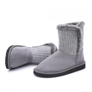 Good Design Lady Knitted Short Winter Boots By Byring Shoes