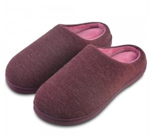 Memory Foam Indoor Outdoor Slippers for Women Men with Coral Fleece Lining, Slip on Clog House Slippers Non-Slip Home Shoes