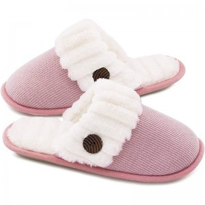 High Quality Women's Cute Comfy Fuzzy Knitted Memory Foam Slip On House Slippers Indoor