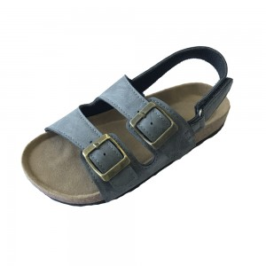 New Arrival Best Selling Good Quality Buckle Strap cork footbed Children Kids Boys Sandals