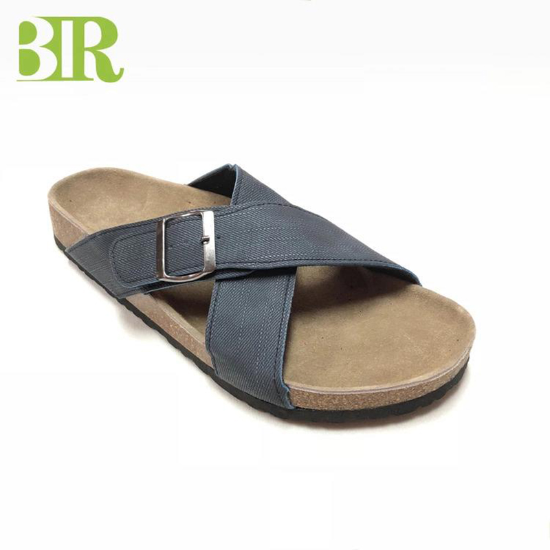 OEM/ODM China Fashion Men Sandals - New High Quality Cross Straps Cork Sole Men Comfort Sandals – BYRING