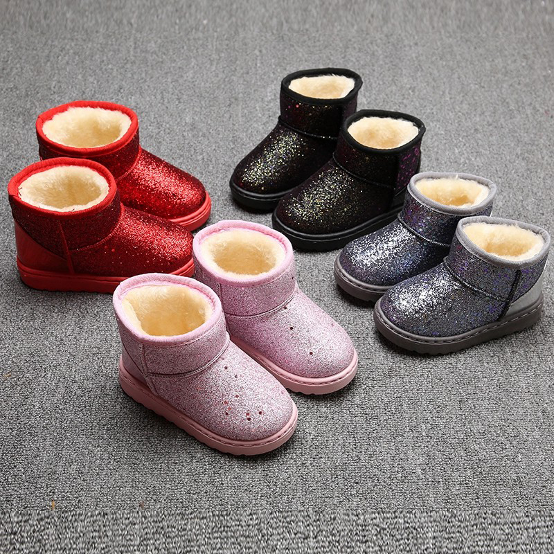 China Factory for Men Clog Sandals - Sequins girls boots kids winter snow boots bling paillette children shiny ankle boots – BYRING