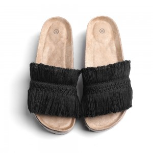 Amazon Hot House Indoor Outdoor Winter Memory Foam Plush Fur Lining Women's Slippers With Rubber Sole