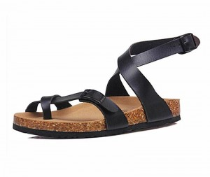 New design Fashion Women ladies girls Summer Ankle Strap Bio Sandals with Cork Arch Support Insole