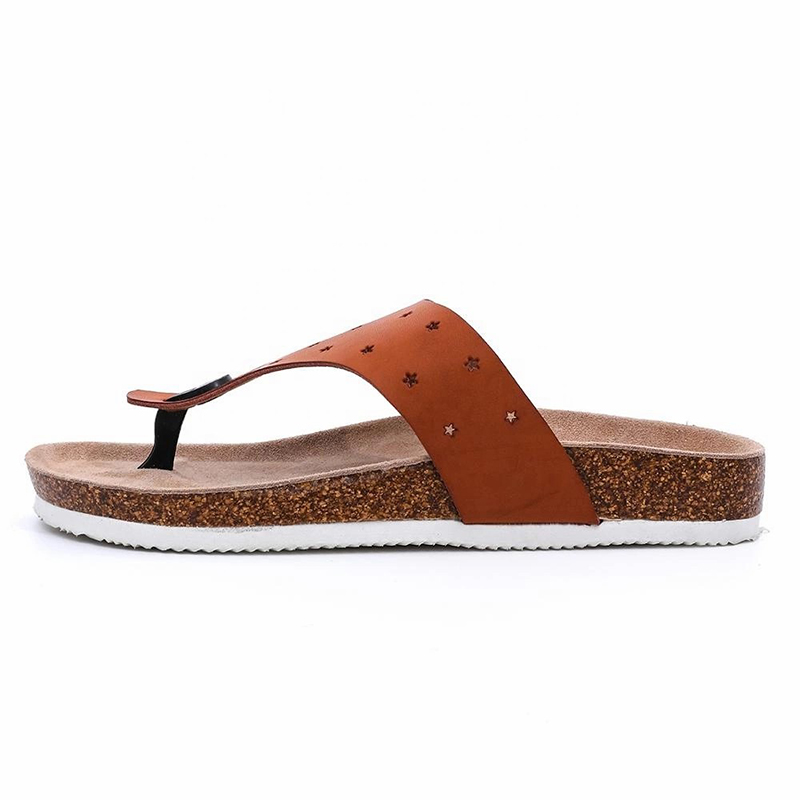 Wholesale Dealers of Sandals Womens - Prime Quality Imatation Leather Men's Thong Cork Footbed Sandals Flipflops For Summer – BYRING