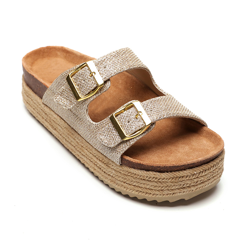 Best quality Ladies Comfort Sandals - Wholesale Platform Footbed High Heel Espadrille  Wedges Sandals For Women And Ladies – BYRING