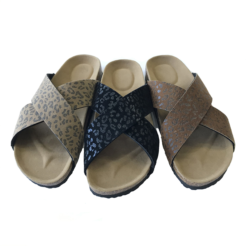 Factory Supply Little Girls Snow Boots - Lady Two Band Footbed Mules With Leopard Prints – BYRING