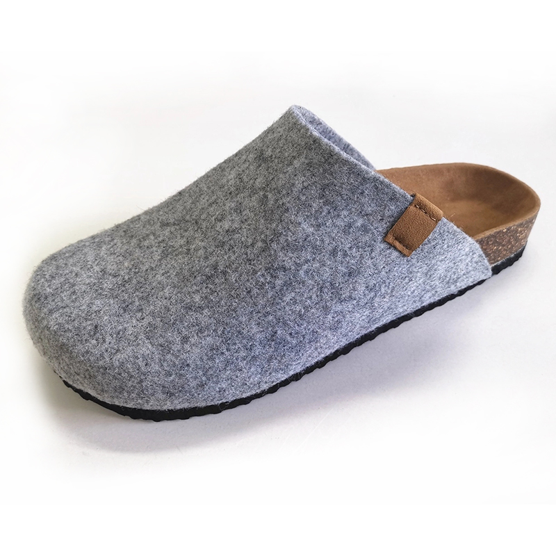 Wholesale Prime Quality Women's Felt Clogs Slippers for Indoor Outdoor with Comfortable Bio Cork Foot-bed Featured Image