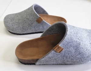 Wholesale Prime Quality Women's Felt Clogs Slippers for Indoor Outdoor with Comfortable Bio Cork Foot-bed