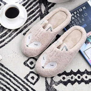 Winter Warm Soft Plush Fleece Memory Foam Cotton Home Cute Animal Women Slippers For Slip on House Slippers