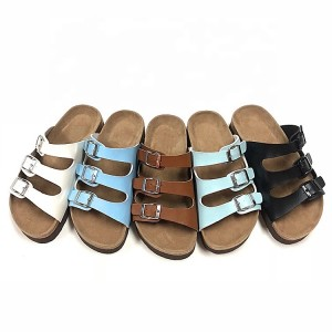 Wholesale China Women Ladies Fashion straps style cork sole Platform EVA Height Sandals with soft padded insole