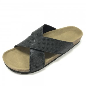 A Cross Strap Lady Cork Foot Bed Comfort Sandal and Slipper from Ningbo Byring Shoes