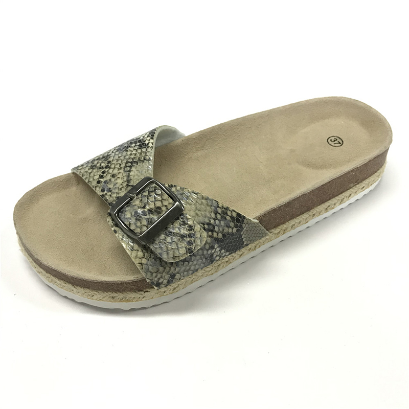 Factory Promotional China Very Beautiful Ladies PU Cork Flip Flops Featured Image