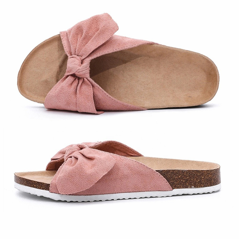 Professional Design Winter Slippers Women - Wholesale Camouflage PU Upper Footbed Cork Sole Flat Sandals Women Comfortable  – BYRING