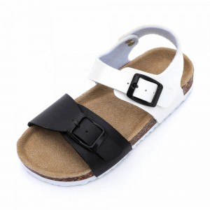 Hotsale Nice Kids Summer Toddler Boys Bio Cork Sole Sandals with Soft Cow Leather Foot-bed Birken Style