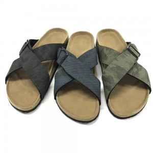 Byring Shoes Footbed Casual Comfort Cross Strap Men Slipper Sandal