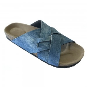 2020 New Design Men Summer Birk Foot-Bed Sole Slide Sandals with 2 Wide Bands