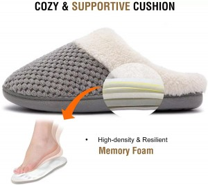 Prime Quality Women's Cozy&Comfort Coral Fleece Memory Foam Slippers Fuzzy Plush Lining Slip-on House Shoes for Indoor & Outdoor Use