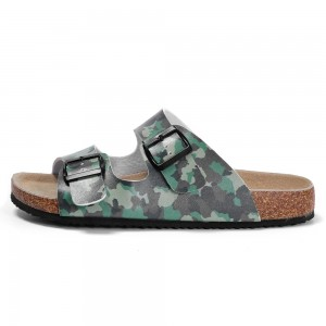 New Pattern Good Quality Men's Buckle Straps Summer Sandals with Comfortable Cork Foot-bed