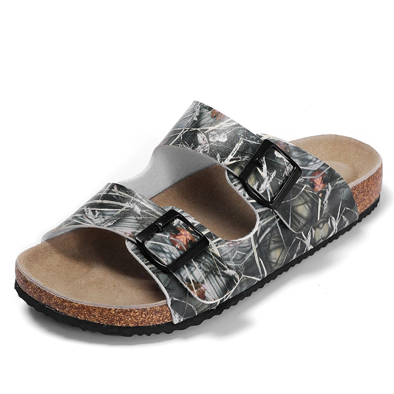 New Pattern Good Quality Men's Buckle Straps Summer Sandals with Comfortable Cork Foot-bed Featured Image