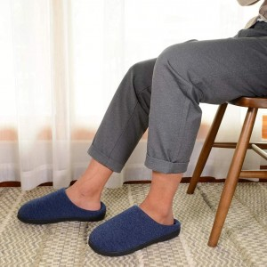 Wholesale Prime Quality Men's Memory Foam Indoor Slippers with Comfortable Foot-bed