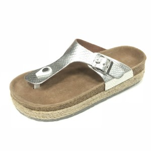 Women Finger Comfort Foot-bed Espadrille Wedges Slipper Sandals