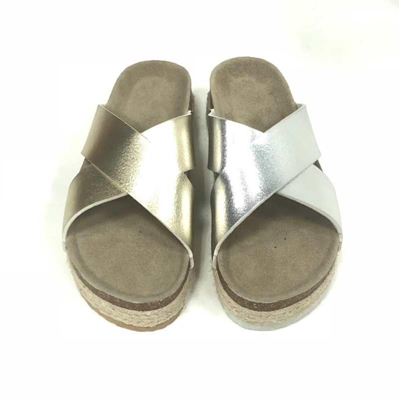 Wholesale Price China Girls Shoes - Casual Style Women's Summer Cork Sole Wedges Cross Sandals For Women – BYRING Featured Image