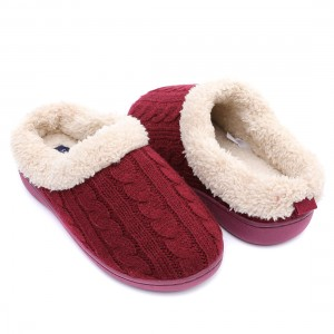 The Classic Knitting Wool Clog Winter Slipper For Lady