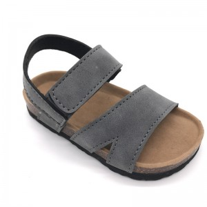 Factory Wholesale High Quality Pu Nubuck Straps Summer Kids Boys Sandals
