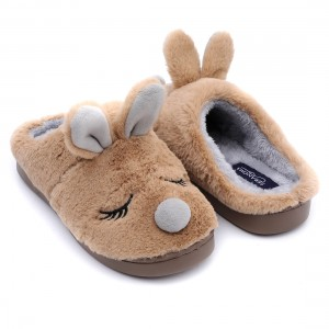 factory Outlets for China Winter Indoor Cartoon Slippers Flat Furry Home Cartoon Women Plush Slippers Unisex Couple Animal Warm Non-Slip Shoes