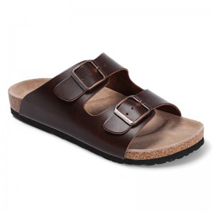 High Quality and Classic Durable Genuine Leather with Cork Foot-bed Bio Sandals For Women