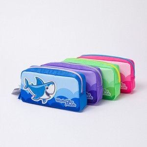 Cute Shark Pencil Case Pencil Holder Pen Pouch Student Stationery Bag Office Storage Organizer Coin Pouch Cosmetic Bag