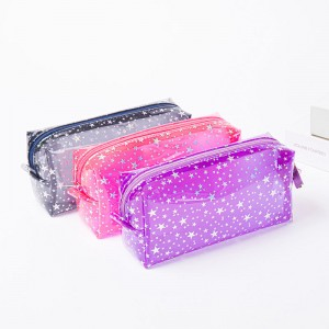 Transparent Pencil/Pen Case,Little Star Pencil Pouch, Cmei Cosmetic Pouch w/Tassels Zipper