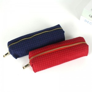 Canvas Stationery Cute Pencil Case for Teen Girls Simple Pencil Pouch for School Cosmetic Bag for Purse