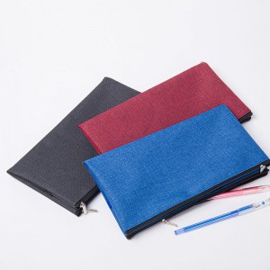 Double Zipper Bag Pencil Bag Pen Case, Felt Students Stationery Pouch Zipper Bag for Pens, Pencils, Highlighters, Gel Pen, Markers, Eraser and Other School Supplies
